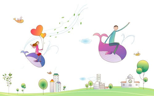 creative-cartoon-enjoy-life-together-love-lovers
