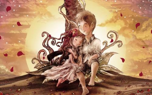 Anime-Boy-Girl-Love-Art-Wallpapers